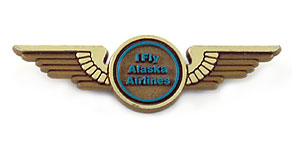 "Alaska Airlines ""I Fly"" Wings"