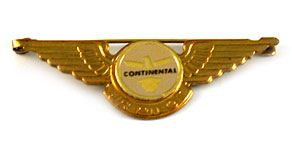 Continental Airlines Junior Pilot Wings