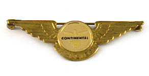 Continental Airlines Junior Hostess Wings