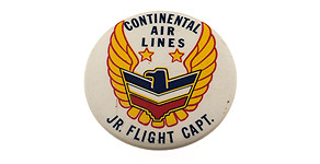 Continental Airlines Jr. Flight Capt. Wings