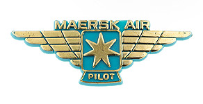 Maersk Air Pilot Wings
