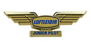 Icelandair Loftleiðir Junior Pilot Wings