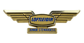 Icelandair Loftleiðir Junior Stewardess Wings