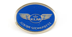 KLM Junior Stewardess Wings