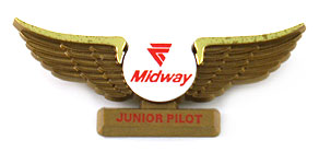 Midway Airlines Junior Pilot Wings