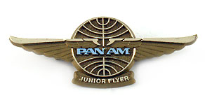 Pan American World Airways Junior Flyer Wings