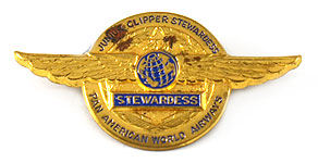 Pan American World Airways Junior Clipper Stewardess Wings