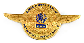 Pan American World Airways Junior Clipper Captain Wings