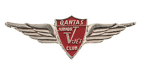 Qantas Junior V-Jet Club Wings