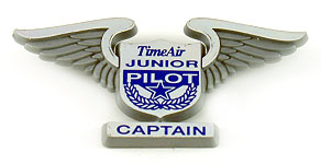 Time Air Junior Pilot Captain Wings