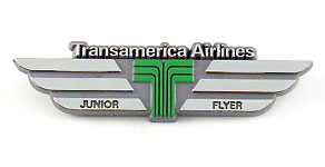 Transamerica Airlines Junior Flyer Wings