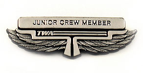 Trans World Airlines Junior Crew Member Wings