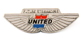 United Airlines Future Stewardess Wings