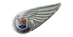 United Airlines Junior Stewardess Wings