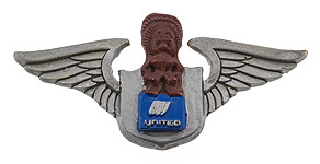 United Airlines Mystery Tiki Wings
