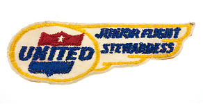 United Airlines Junior Flight Stewardess Wings