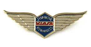 Viasa Junior Stewardess Wings