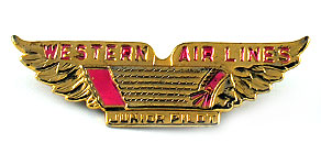 Western Airlines Junior Pilot Wings (Pink)