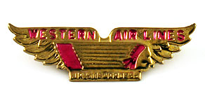 Western Airlines Junior Stewardess Wings (Pink)