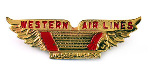 Western Airlines Junior Stewardess Wings (Red)