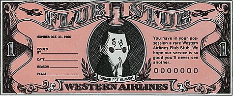 Western Airlines Flub Stub