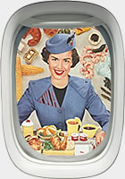 Stewardess with food