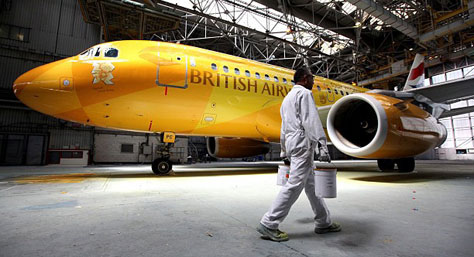 British Airways Firefly livery for the 2012 Olympics