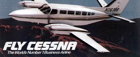 Fly Cessna: The world's number 1 business airline.