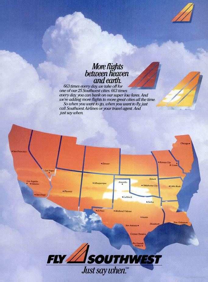 Southwest Airlines Print Ads